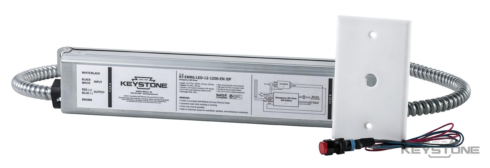 Led emergency ballasts keystone technologies kt emrg led 12 1200 endf w button and plate arubaitofo Choice Image