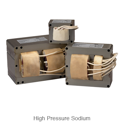 three various sized high pressure sodium ballast for HID ballast replacement
