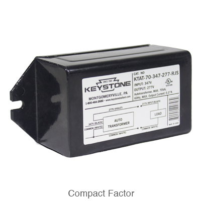 compact form factor step down transformer