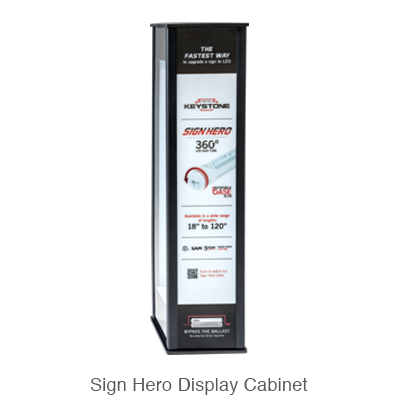 L.E.D. sign tube display cabinet