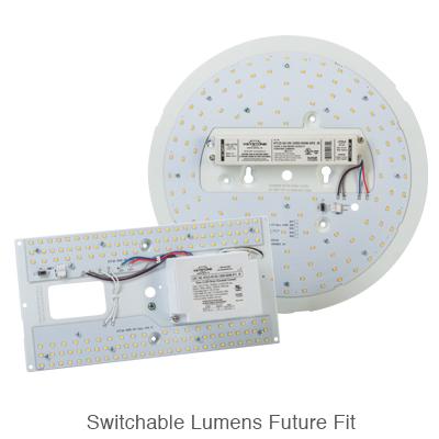 circular and rectangular L.E.D. retrofit kits