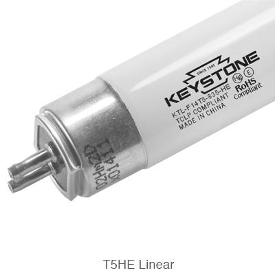 linear T5 tube for high efficiency fluorescent lighting