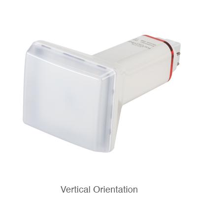 4 pin L.E.D. bulb in verticle orientation