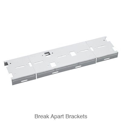 mounting brackets for the strip fixture connected