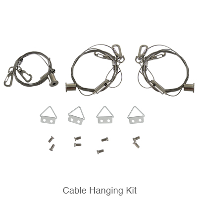 cable hanging kit for L.E.D. panel light