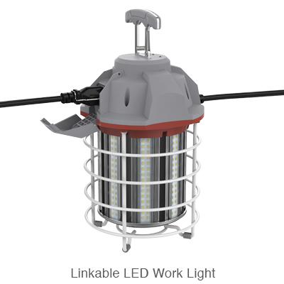 Temporary L.E.D. lamp for job site lighting