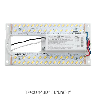 L.E.D. retrofit kit with the driver pre-instalL.E.D. on the rectangular L.E.D. module
