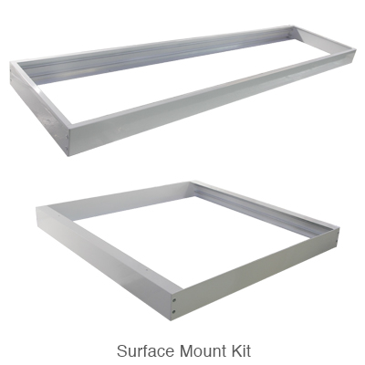 surface mount kit for both 2x4 and 2x2 L.E.D. panel light