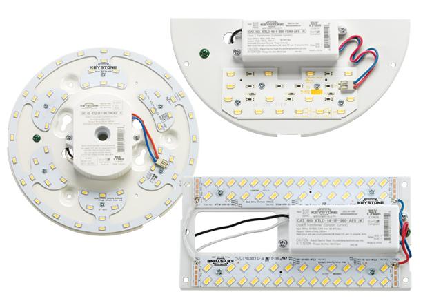 sconce, circline, and rectangular DC LED retro kits