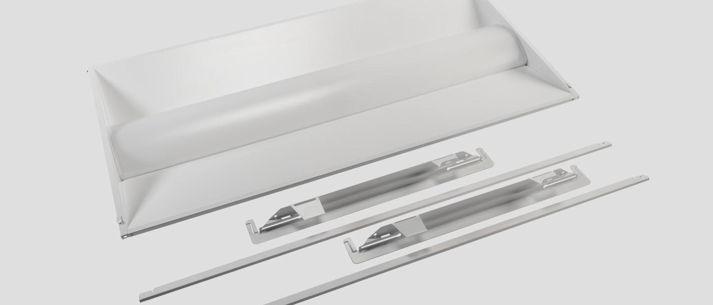 2x4 LED troffer retrofit kit with bracket accessories