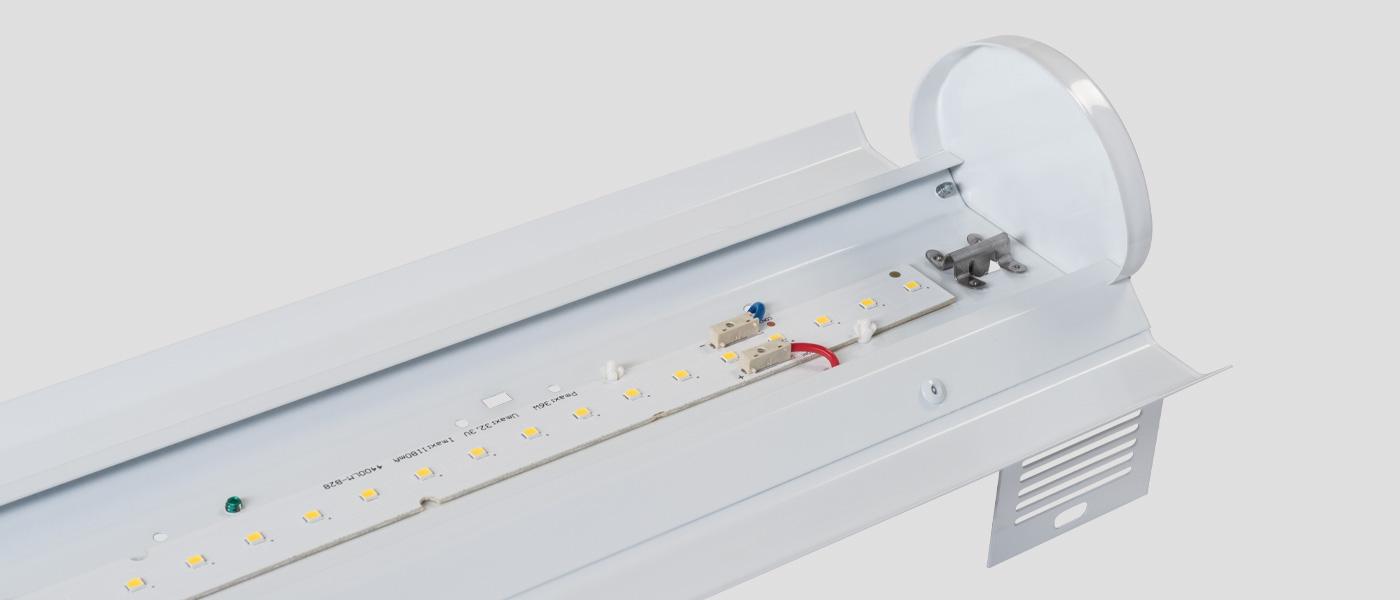 Open strip LED retrofit kit