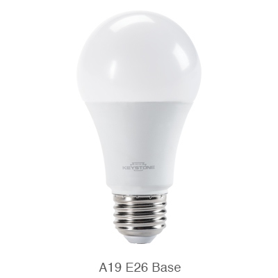 A19 LED bulb with E26 base