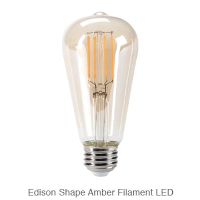 Amber Edison LED filament bulb
