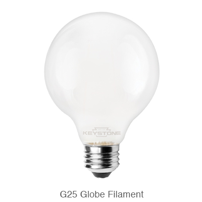 Frosted G25 LED bulb