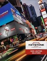 front cover of Sign Lighting Solutions brochure featuring the Times Square sign