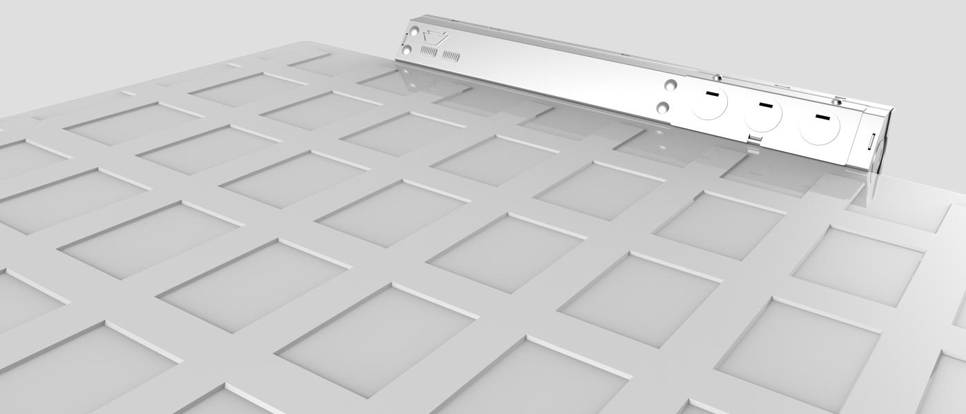 Back-Lit LED Panel Light with Built-In Junction Box