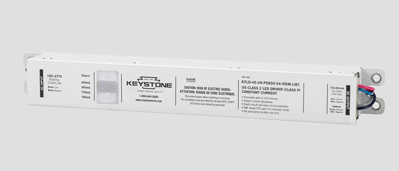 45W adjustable LED driver in LM1 case