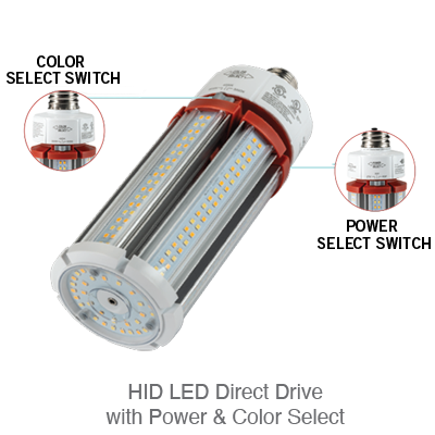 HID LED Direct Drive with Power & Color Select