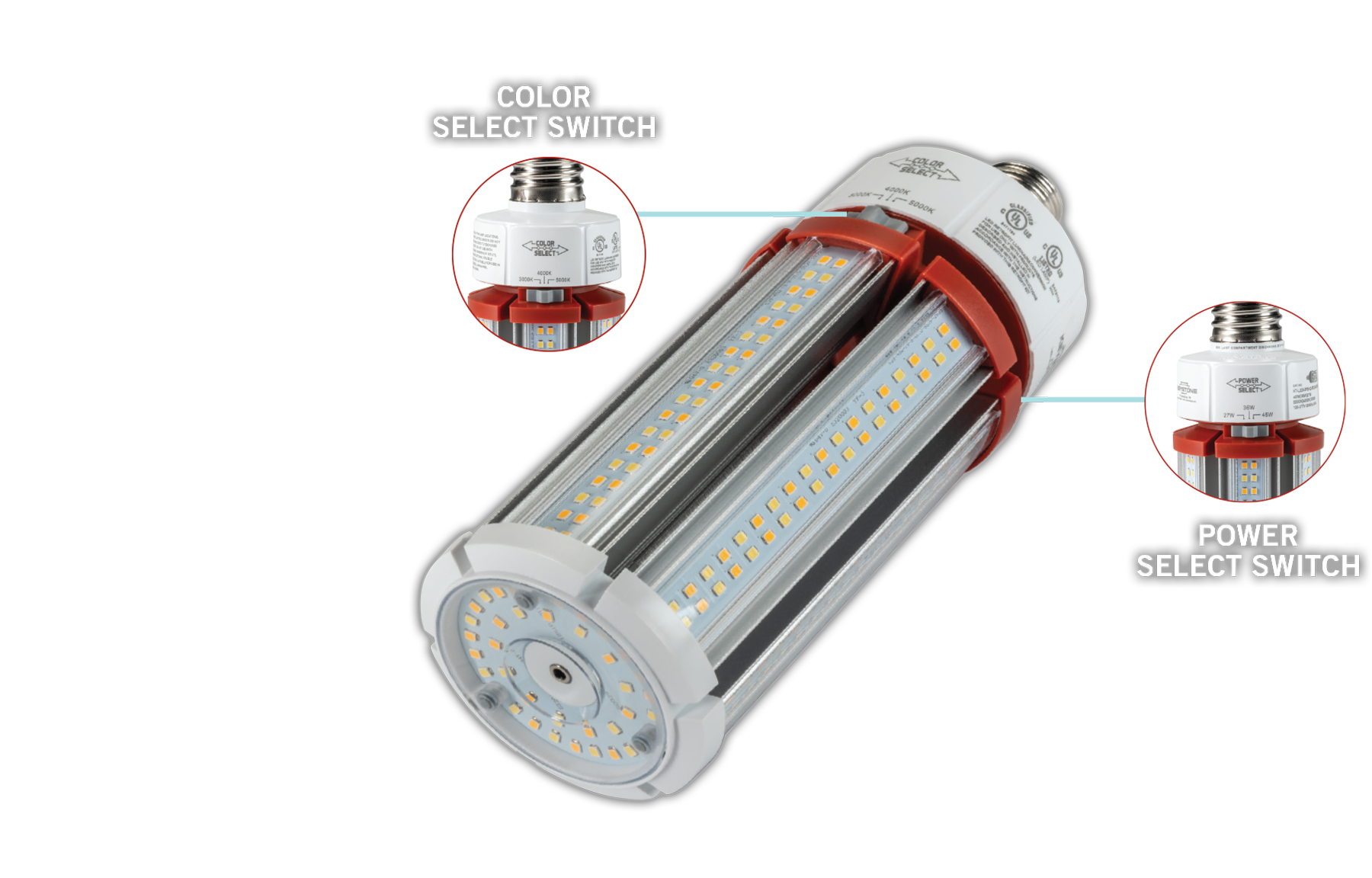 Power & Color Select HID LED lamp reduces skus
