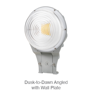 Dusk-to-Dawn Angled with Wall Plate