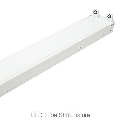LED tube ready strip fixtures