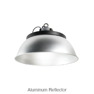 Power and Color Select Round High Bay Aluminum Reflector